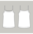 Vest Front And Back vector image vector image