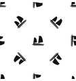 vietnamese junk boat pattern seamless black vector image vector image