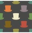 Vintage cylinder hat seamless pattern vector image