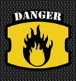 Warning sign design vector image vector image