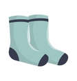 winter socks clothes icon vector image
