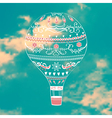 with decorative hot air ballon in blue sky vector image vector image