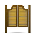 wooden brown gate or door in saloon bar or pub vector image vector image
