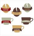 coffee elements vector image