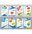 Set of corporate business stationery brochure vector image