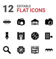 12 detail icons vector image vector image
