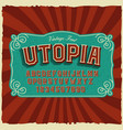 a bold sans-serif font in vintage style vector image vector image