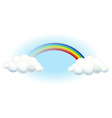 A rainbow in the sky vector image vector image