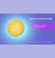 advertisement of virtual currency bitcoin icon of vector image