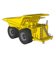 an yellow dumper truck white background vector image vector image