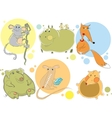animal characters vector image vector image