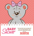 baby shower girl invitation card vector image vector image