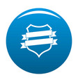 badge design icon blue vector image vector image