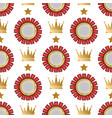 badges shop product seamless pattern vector image vector image