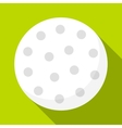 Ball for golf icon flat style vector image vector image