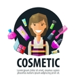 beauty salon cosmetic logo design template vector image vector image