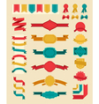 big retro ribbons and labels set vector image vector image