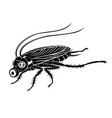 black cockroach in gas mask vector image