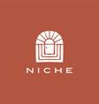 boho niche door french curve logo icon