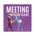 business men shaking hands vector image vector image