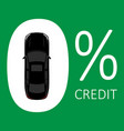 car credit concept zero rate vector image