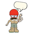 cartoon man smoking pot with speech bubble vector image