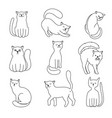 cat character sketch vector image