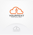 cloud write logo vector image