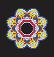 colorful chakra ornament in tibetian-color style vector image vector image