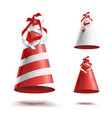colorful party hat twisted ribbons vector image