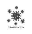 coronavirus icon simple flat style vector image vector image