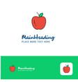 creative apple logo design flat color logo place vector image