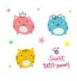 cute cats slogan vector image vector image