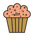 delicious and sweet cupcake vector image