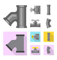 design pipe and tube logo collection vector image vector image