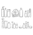 Detailed sketch of elements for bath vector image vector image