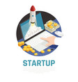 entrepreneur start up isometric composition vector image vector image