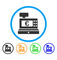 euro cashbox rounded icon vector image