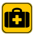 First aid button vector image vector image