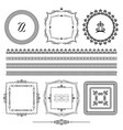 frames borders ornamental lines vector image