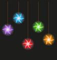 garland starlet seamless pattern vector image