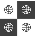 globe icon simple vector image vector image