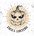 halloween hand drawn pumpkin jacks lantern vector image