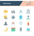 halloween icons flat design collection 52 for vector image