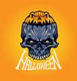 halloween skull isolated vector image vector image