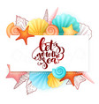 hand lettering summer phrase - lets go to vector image