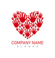 hands heart logo vector image