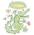 happy crocodile vector image vector image