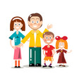 happy family isolated on white background flat vector image vector image
