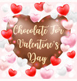heart shape chocolate for valentines day vector image